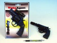 Pistole Kapslovka s tlumičem, 23cm, 12ran