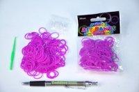 Udělej si náramek /gumičky 250ks fialové+náčiní/