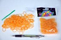 Udělej si náramek /gumičky 250ks oranžové+náčiní/