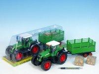 Traktor s vlečkou, 33cm, plast