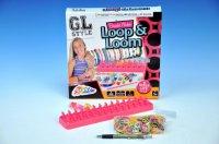 Udělej si náramek - stav na gumičky + 600 gumiček + ozdoby v kra