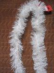 Vánoční řetěz 2m bílý, š 8cm