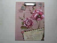 Podložka s klipem, A4, Motiv růže
