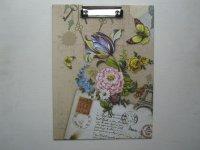 Podložka s klipem, A4, Motiv květiny